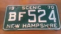 New Hampshire  License Plate Vintage 1970 SCENIC BF524