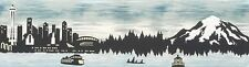 """2016 Row by Row Light """"Evening"""" Home to Seattle Laser Cut Quilt Kit Mt Rainier"""