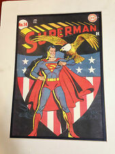 DC COMICS SUPERMAN 1942 ARTIST RENDITION PRINT AMERICAN EXPRESS EXHIBIT 1989