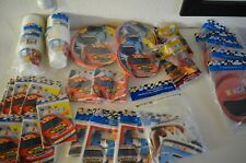 HUGE Lot of Vintage Nascar Racetrack Party Decorations Supplies