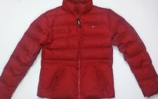 Tommy Hilfiger Jeans Women's Down Jacket Coat Size L Large Red Puffer Very Nice