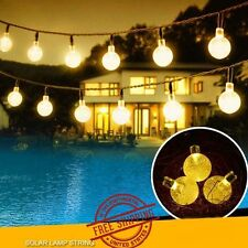 20ft 30 Solar LED Outdoor Waterproof String Lights Warm White Garden Decor Ball
