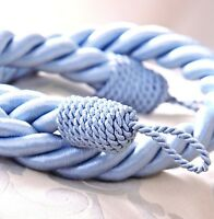 Reef Designer Twisted Rope Tie Back For Fabric Curtain Sold In Pairs 15 Colours
