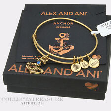 Authentic Alex and Ani Anchor (iii) Rafaelian Gold Charm Bangle