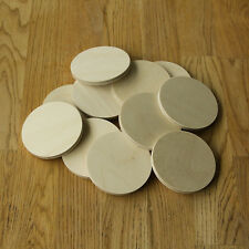 """PYROGRAPHY BLANKS PACK OF 12...75mm x """"Thicker"""" 6mm BIRCH PLYWOOD ROUND COASTER"""