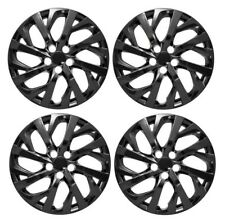 """NEW 2017 2018 TOYOTA COROLLA 16"""" BLACK Hubcap Wheelcover SET"""