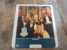 Vintage CED Videodisc1982 The Great Train Robbery-Sean Connery,Donald Sutherland