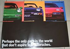 Original Porsche Poster Perhaps the only cars in the world that don't aspire to