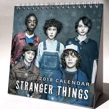Stranger Things Desktop Calendar 2018 NEW + FREE GIFT 3 Stickers Elevan TV Show