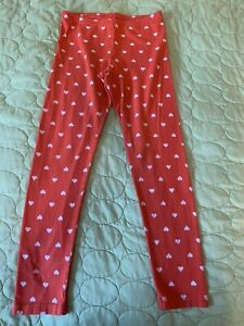 Girls leggings Old Navy size 10/12 red/white hearts good condition