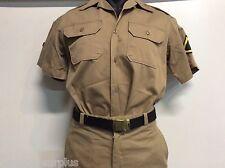 Vietnam Era US Army Khaki Uniform Medium Top 33 x 30 Pants Trousers Belt Buckle
