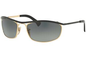 RAY-BAN OLYMPIAN Sunglasses RB3119 916271 Black & Gold W/ Grey Gradient Lens