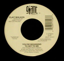 "CLAY WALKER ""YOU'RE BEGINNING TO GET TO ME/Your Memory"" GIANT 17158 (1998) 45rpm"