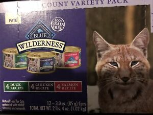 Blue Buffalo Wilderness High Protein Grain Free Natural Adult Pate Wet Cat Food