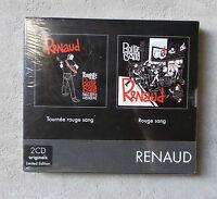"""CD AUDIO / RENAUD """"TOURNÉE ROUGE SANG / ROUGE SANG"""" 2 CD ALBUM ÉDITION LIMITÉE"""