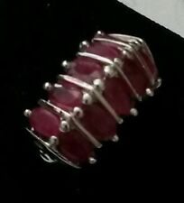 4.00 ctw Ruby Ring 14K white gold Size 6.5