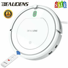Beaudens Smart Robotic Vacuum Cleaner Floor Sweeping 3 Cleaning Modes w/ Remote