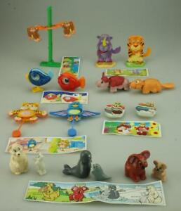 Lot of 14 Kinder Surprise Animals All K97 Era inc 7 Complete Sets & Papers D283