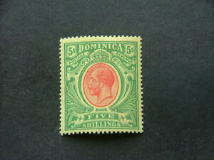 Dominica KGV 1914 5/- red & green on yellow SG54 MM