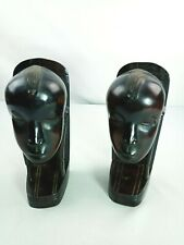Pair of African Tribal Warrior Head Book Ends Decorative Home Decor Mid Century