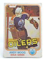 1981-82 Andy Moog #120 Edmonton Oilers OPC O Pee Chee Ice Hockey Card H398