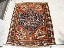 4x5ft. Antique Persian Quasqui Wool Rug