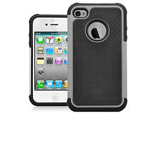 For Apple iPhone 4S 4 Executive Armor Hybrid Case Hard Silicone Cover