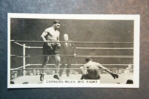Primo Carnera v Reggie Meen   Heavy-weight Boxing   Vintage Photo Card