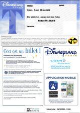 Billets enfant (3/11 ans) Disneyland Paris non datés valables 1 an (24/10/2021)