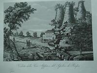 1845 Zuccagni-Orlandini Veduta della Via Appia e del Sepolcro di Pompeo