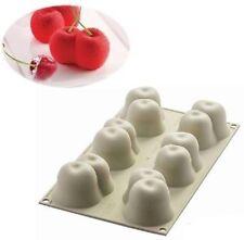 STAMPO MULTIPORZIONE 6 ROSSO CILIEGIA 3D SILICONE SILIKOMART MOUSSE TORTA mshop