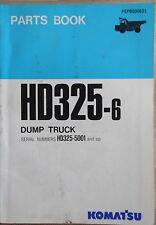 Komatsu camiones de volteo HD 325-6 catálogo de repuestos