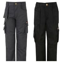 TuffStuff Pro Work Junior Trousers Kids Boys Girls Workwear Caro Pants Strong UK