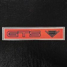 HOLDEN HQ GTS V8 STICK ON METAL INTERIOR CONSOLE BADGE ORANGE COLOUR GIFT IDEA!