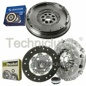 LUK 3 PART CLUTCH KIT AND SACHS DMF FOR PEUGEOT 307 ESTATE 2.0 HDI 135