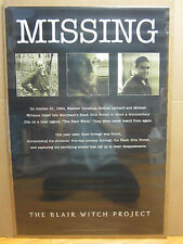 Vintage 1999 The Blair Witch Project movie poster Missing people 5301