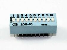 10 Pin Slide/DIP Switch SPST - Lot of 3      ( DS10A )