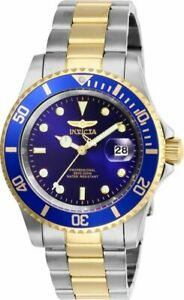 Invicta Men's Watch Pro Diver Quartz Blue Dial Two Tone Bracelet 26972