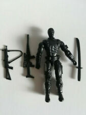 "3.75"" Gi Joe  Black Snake Eyes  Rare  Action Figure with Weapons"