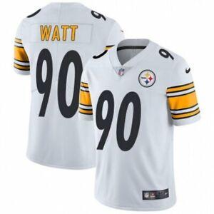 T.J. Watt #90 Pittsburgh Steelers Men's White Jersey