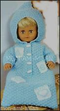 Knitting Pattern DOLLS CLOTHES PREM BABY HOODED SLEEPING BAG Tiny Tears Dolly DK