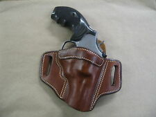 "Smith & Wesson S&W K Frame 2-3"" Leather 2 Slot Pancake Belt Holster CCW TAN RH"