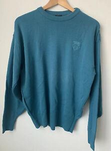 Vintage Descente Wool Sweater Medium Winter Sports Gear Crew Neck 90s Skiing