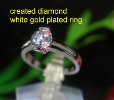 1ct 5mm round DIAM0ND dress ring size L 6
