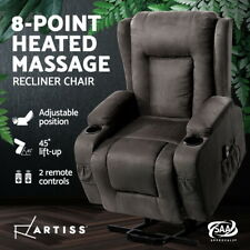 Artiss Recliner Chair Electric Massage Chairs Lift Heated Fabric Lounge Sofa