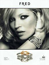 Publicité Advertising 089  2010 Fred joaillier coll bracelet force10 kate Moss 3