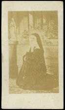 santino fotografico di fine '800 S.BERNADETTE SOUBIROUS