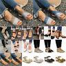 Women's Flat Ankle Strap Espadrilles Sandals Summer Casual Platform Beach Shoes