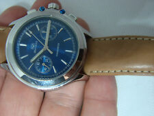 MONTRE WATCH SEA GULL CHRONOGRAPH CHRONOMETER WW1 ARMY BLUE ESPRIT OMEGA