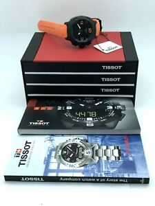 Tissot T-Race Touch Black Dial Orange Rubber BOX & ALL PAPERS MANUAL SERVICED